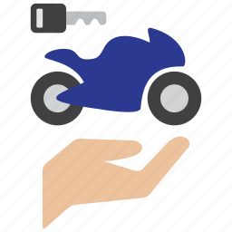 bike, biker, care, indemnity, motor, owner, protection icon
