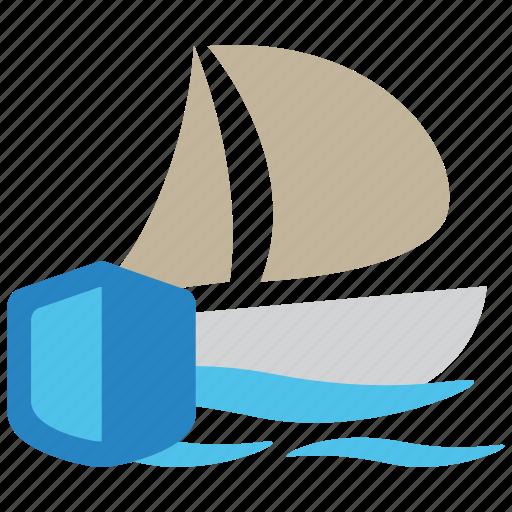 boat, insurance, protection, sea, ship, travel, vessel icon
