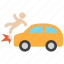 accident, car, crash icon