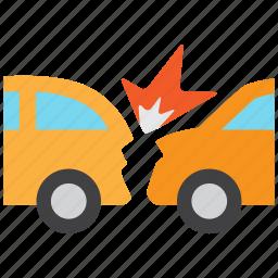 accident, car, car crash, collision, crash, indemnity, insurance icon