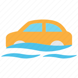 accident, car, flood, indemnity, insurance, transportation, vehicle icon