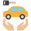 car, care, insurance, key, owner, transport, vehicle icon