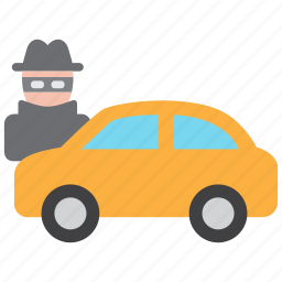 automobile, car, crime, steal, theft, vandalism, vehicle icon
