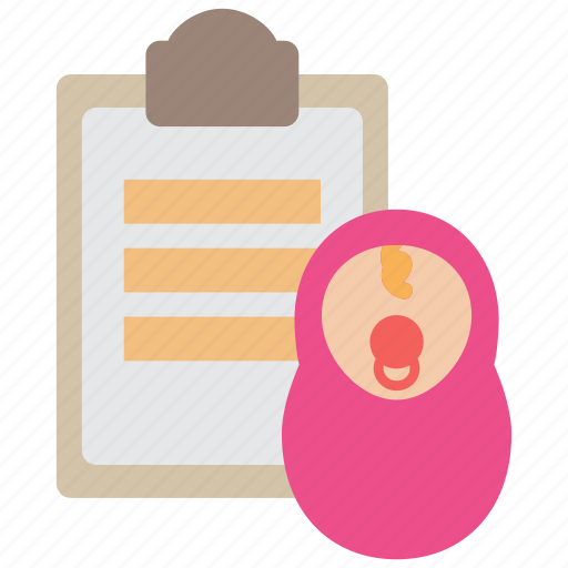 baby, child, insurance, plan, policy, protection, schedule icon