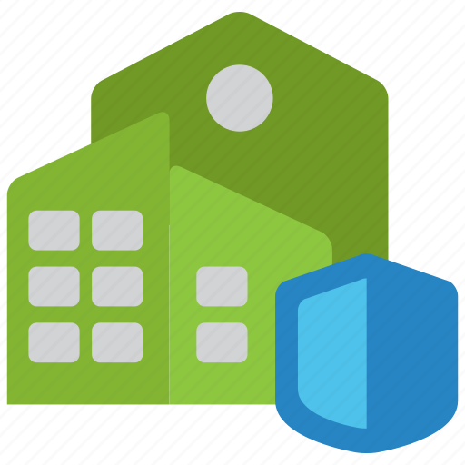 building, commercial, company, factory, insurance, office, property icon
