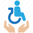 care, disability, disabled icon