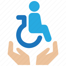 disability, disabled, elder, insurance, old, protection, security icon