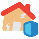 earthquake, hazard, home, insurance, quake, risk icon