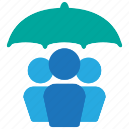 group, insurance, life, people, team, umbrella, user icon