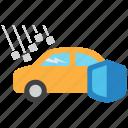 auto, car, hail, insurance icon