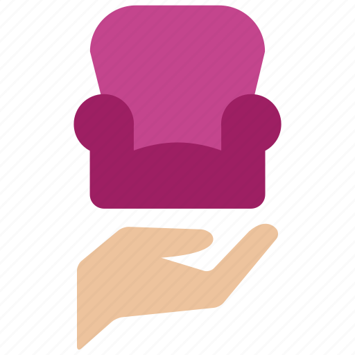 care, chair, estate, furniture, interior, real, sofa icon