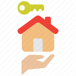 building, care, house, insurance, key, landlord, owner icon