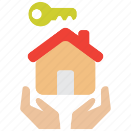 care, house, insurance, key, landlord, property, real estate icon