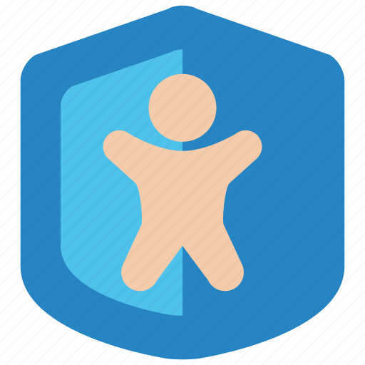 care, insurance, life, protection, safety, secure, shield icon