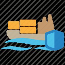 boat, goods, insurance, marine, nautical, sea, ship icon