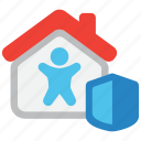 home, indemnity, insurance, life, mortage, safety, security icon