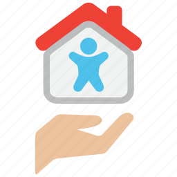 care, house, insurance, life, mortage, protection, safety icon