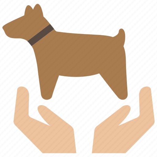 animal, care, dog, insurance, love, pet, protector icon