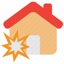 accident, bomb, explode, explosion, indemnity, insurance, property icon