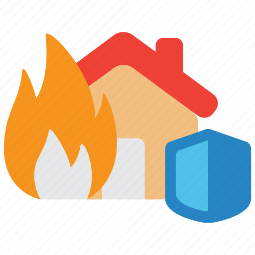 accident, fire, flame, hazard, indemnity, insurance, property icon
