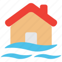 accident, flood, hazard, indemnity, insurance, property, risk icon