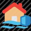 flood, insurance, property icon