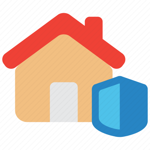 estate, home, house, insurance, property, protection, shield icon