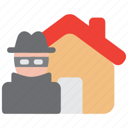 apartment, construction, crime, mischief, property, theft, vandalism icon