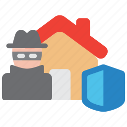 crime, insurance, mischief, property, shield, theft, vandalism icon