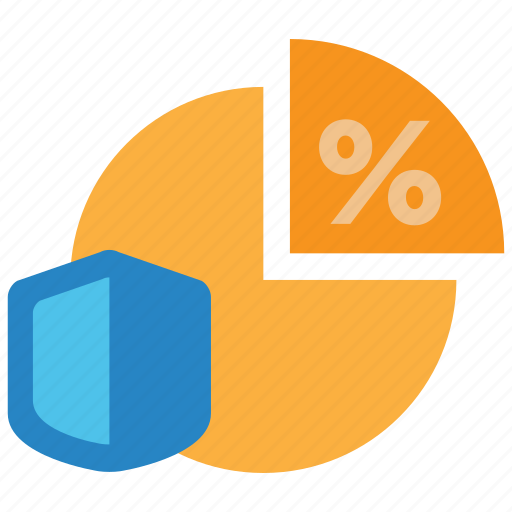 analytics, chart, graph, insurance, life, percentage, term icon