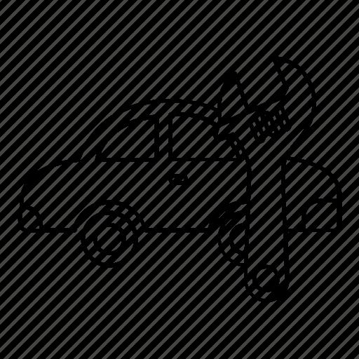 automobile, car, fix, garage, mechanic, repair, service icon