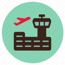air traffic control, airport, flight, plane, transport icon