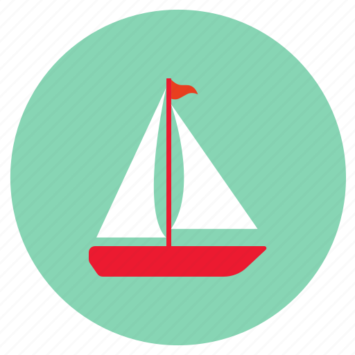 boat, sail, transport icon