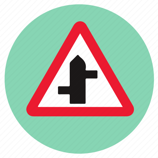 junction, road, sign board, transport icon