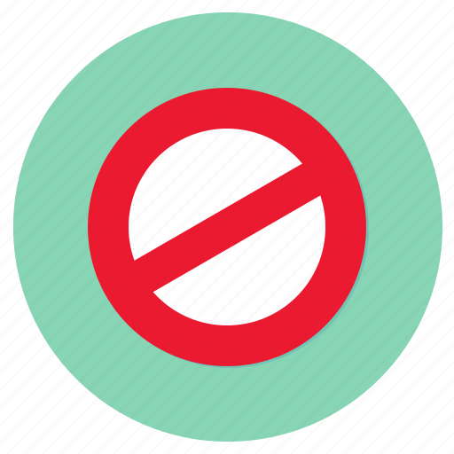 banned, no parking, road, transport icon