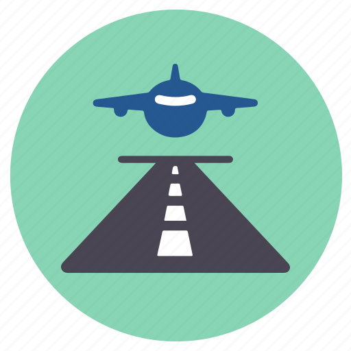 landing, runway icon