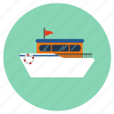 cruise, ship icon