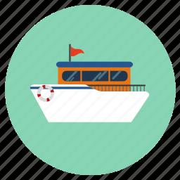 cruise, ship icon