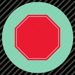 signal, stop, transport icon
