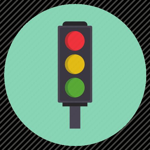 road, signal, traffic, transport icon