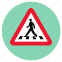 crossing, road, transport, zebra icon