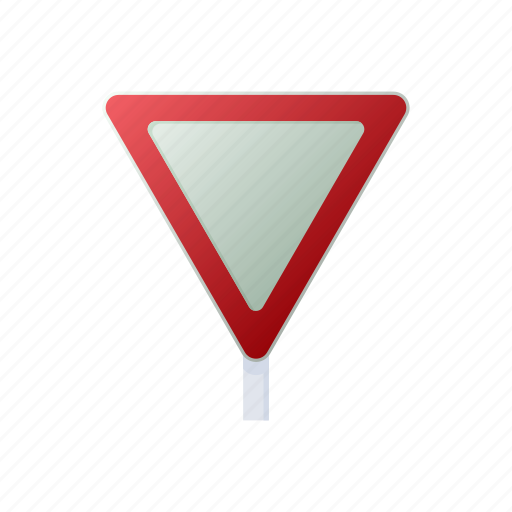 Blank Cartoon Highway Road Sign Traffic Triangle Icon