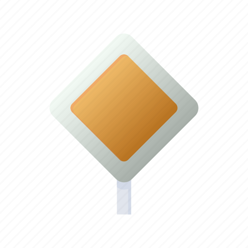 cartoon, main, priority, road, safety, sign, traffic icon