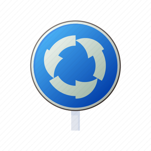 cartoon, circle, direction, right, round, safety, traffic icon