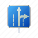 arrow, cartoon, direction, right, road, sign, traffic