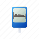 bed, cartoon, hospital, hotel, sign, silhouette, traffic icon