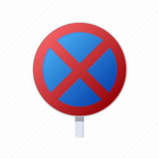cartoon, no, prohibited, road, sign, stop, traffic icon