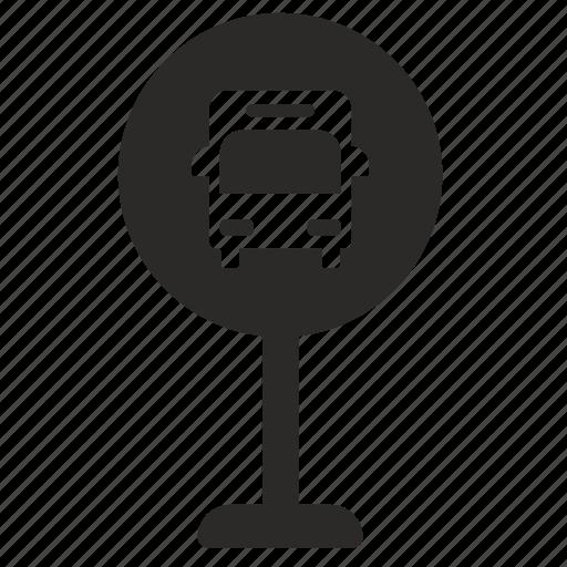 Bus, road, sign icon - Download on Iconfinder on Iconfinder