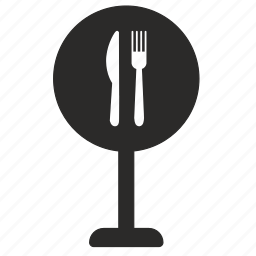 food, road, sign icon