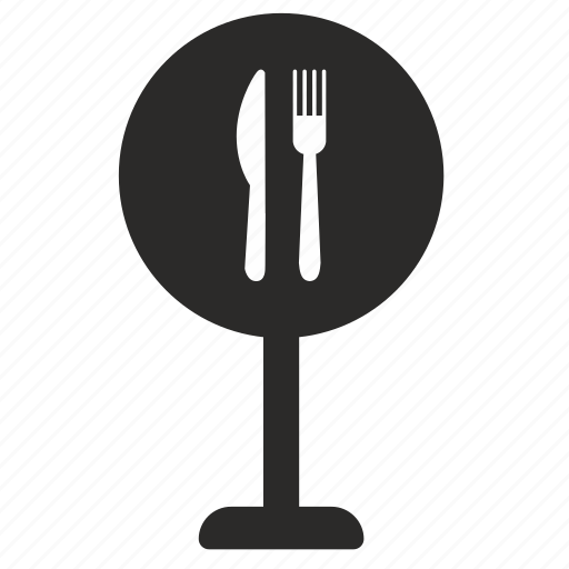 Food, road, sign icon - Download on Iconfinder on Iconfinder